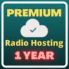 1 year Premium radio hosting