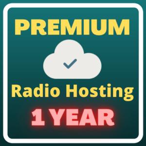 Premium Radio Hosting (1 year) Plus Free Domain Forever