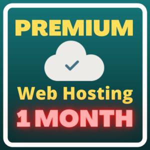 Premium Web Hosting (1 month)
