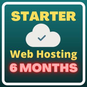 Starter Web Hosting (6 months)